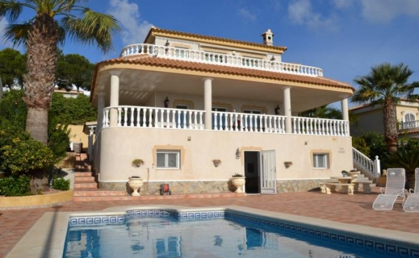Great villa with fantastic views to the salt lakes and the sea.